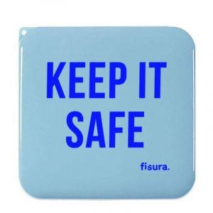 Boîte à masques faciaux Keep it safe, bleu