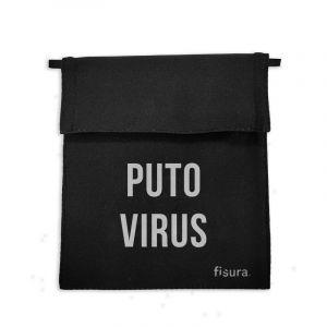 Sac à masque en tissu antiviral Puto virus