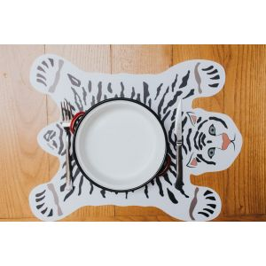 White Cheetah Placemat