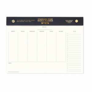 Post Bound S. Issue Undated Weekly Planner - Black