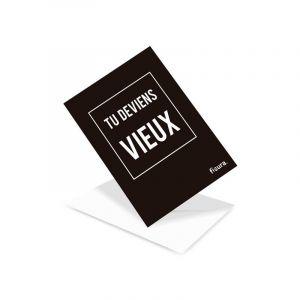 Te deviens vieux Postcard - FR
