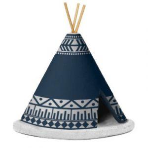 Incense Burner Teepee Blue