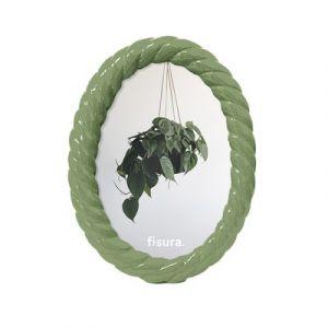 Cadre photo Ovale Polyrésine Jade