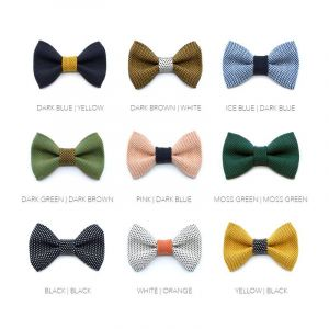 Yumi collection - colour set - 18 bow ties + 12 straps + 12 pocket squares + 10 sets cufflinks
