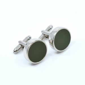 YUMI CUFFLINKS- dark green