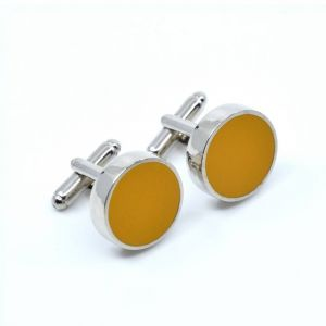 YUMI CUFFLINKS - yellow