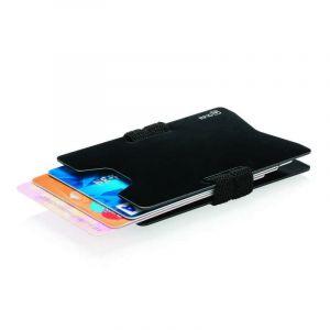 Portefeuille minimaliste RFID, noir