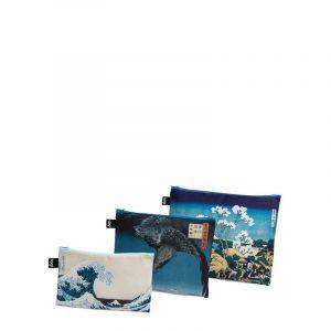 Lot 3 Zip Pockets Museum Hokusai