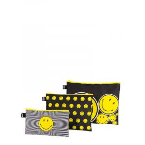 Lot 3 Zip Pockets Artist Smileyspiral, Dots, Spots
