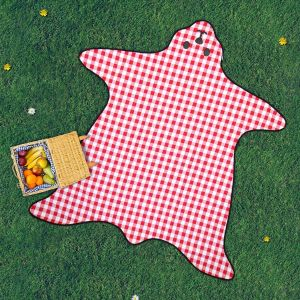 Bear Shaped Picnic Rug