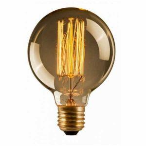 Ampoule edison g 95 - e27 220-240v 40w(10 x 14cm)