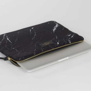 Black Marble 13 Laptop Sleeve inch