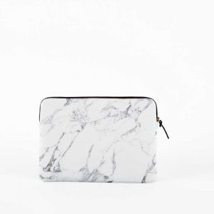 White Marble 13 Laptop Sleeve inch