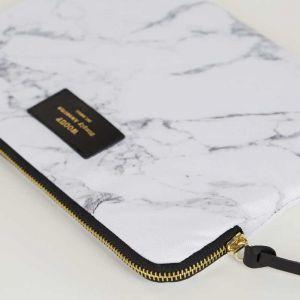 White Marble iPad Sleeve