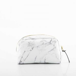 White Marble Large Beauty Bag