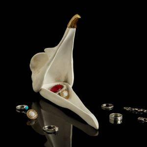 boite à bijoux, rangements crâne d' Oiseau, blanc