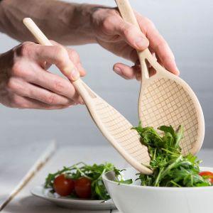 Couverts à salade raquette