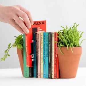 Serre-livres 'Pot de fleur'