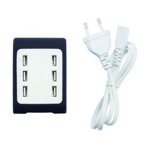 Station de recharge 6 ports USB, noir