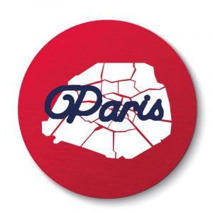 Aimant Coeur Carte de Paris
