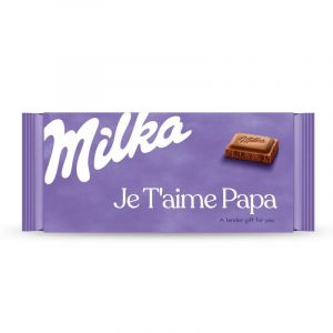 Milka 100g: JE T'AIME PAPA