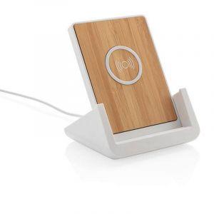 Support téléphone avec chargeur à induction 5W Ontario, blan