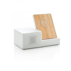 Chargeur à induction 5W Ontario avec haut-parleur, blanc