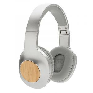 Casque audio en bambou Dakota, gris