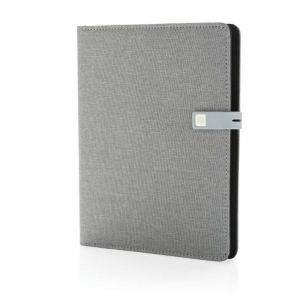 Carnet de notes A5 Kyoto avec clé USB 16Go, gris