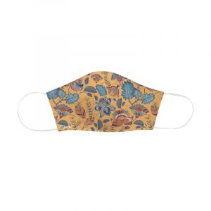 Face Mask Adults Orange Paisley