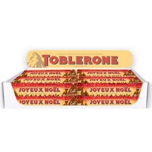 Starter Set Table Display Toblerone 100g Xmas Wallonia, 40 pcs, 5 different texts