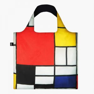 Sac RECYCLE Avec Pochette Zip Artist PIET MONDRIAN Composition with Red, Yellow, Blue and Black