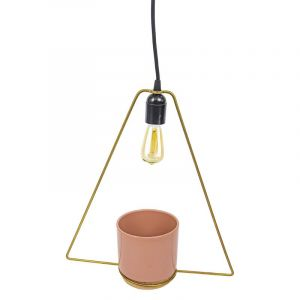 Accessories - Lampe avec pot ENO de couleur rose, 12 cm