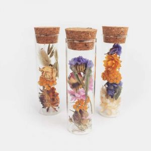WISH mini bottle with field flowers (3 x 8 cm)
