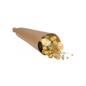 Bouquet de marché de couleur neutre. Fleurs séchées. Livré dans une boîte