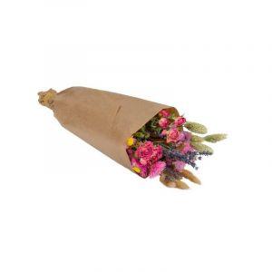 Bouquet de marché tons roses mixte. Fleurs séchées. Livré dans une boîte