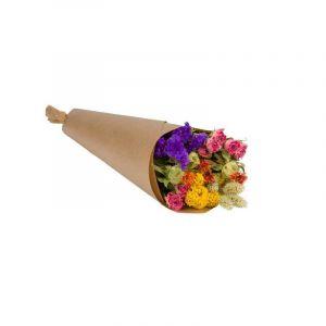 Bouquet de marché multicolor. Fleurs séchées. Livré dans une boîte