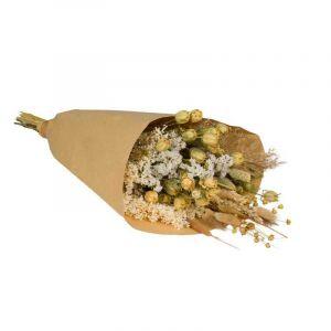 Bouquet de fleurs des champs de mélange neutre. Fleurs séchées - Grandes