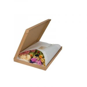 A mix of Multicoloured dried flowers in a letter box suitable for E-Commerce