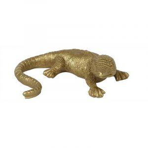 Statuette de lézard doré