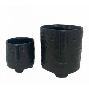 Pot à visage AW2020 noir - Petit (livré sans plante)