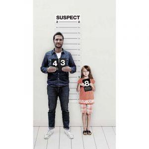 Set affiche pour photos anniversaires enfants petit gangster