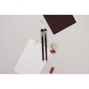 Set de deux crayons et gommes 'Bunny and Claude'