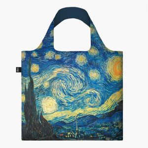 Sac RECYCLE Avec Pochette Zip Artist VINCENT VAN GOGH The Starry Night (La Nuit Etoilée)
