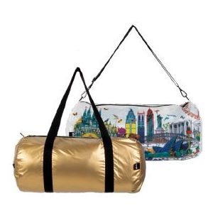 Weekender réversible Kristjana S Williams Interiors, Gold & World Skyline