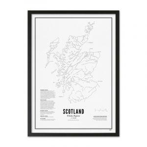 Prints - Scotland - Whisky Regions A3