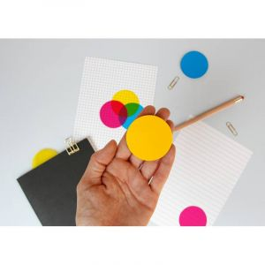 Bloc note de sticky notes ronds semi-transparents