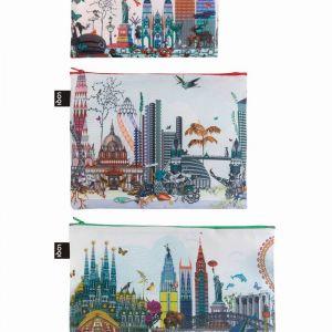 Lot 3 Zip Pockets  Kristjana S Williams Interiors, World Skyline